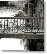 Bikes Over Waller Creek Metal Print