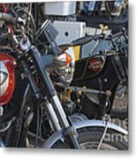 Old Motorbikes Metal Print