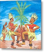 Bikutsi Dance 3 From Cameroon Metal Print