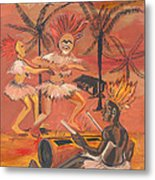 Bikutsi Dance From Cameroon Metal Print