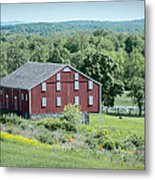 Bilgerville Road Farm  7d02271 Metal Print