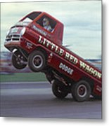 Bill Maverick Golden In The Little Red Wagon Metal Print by Mike McGlothlen