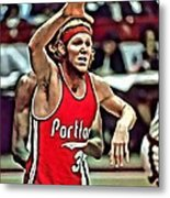 Bill Walton Metal Print by Florian Rodarte