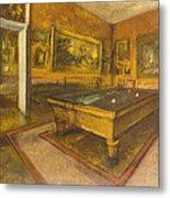 Billiard Room At Menil-hubert Metal Print