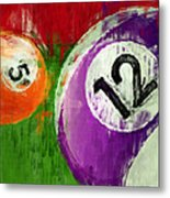 Billiards Abstract 5 12 Metal Print