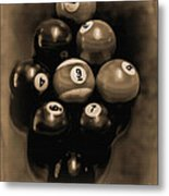 Billiards Art - Your Break - Bw Opal Metal Print