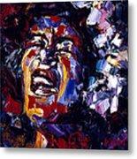 Billie Holiday Jazz Faces Series Metal Print