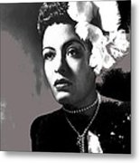 Billie Holiday Singer Song Writer No Date-2014 Metal Print