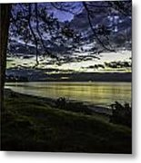 Billow Blue Metal Print