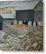 Bill's Barns Metal Print