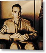 Billy Bob Thornton as Ed Crane in the film The Man Who Wasn t There Metal Print