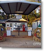 Billy Carters Old Service Station In Plains Georgia Metal Print