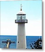 Biloxi Lighthouse 4 Metal Print