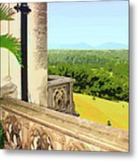 Biltmore Balcony Asheville Nc Metal Print by William Dey