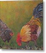 Biltmore Chickens  Metal Print