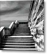 Biltmore Stairs Asheville Nc Metal Print by William Dey