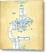 Binocular Microscope Patent Drawing From 1931 - Vintage Paper Metal Print