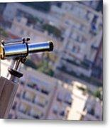 Binoculars View Of City Metal Print