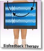 Biofeedback Therapy Metal Print