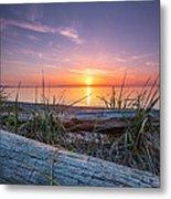 Birch Bay Sunset Metal Print