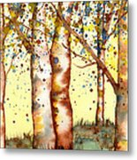 Birch Trees Metal Print by Diane Ferron