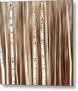 Birches In Motion Metal Print