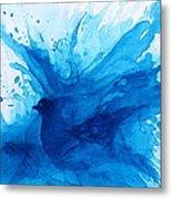 Bird Bath Metal Print