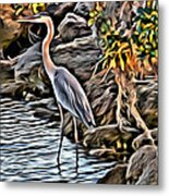 Bird By The Water Metal Print
