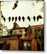 Bird Cityscape Metal Print