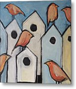 Bird Condo Association Metal Print
