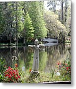 Bird Girl Of Magnolia Plantation Gardens Metal Print