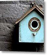 Bird House Of Blue By Diana Sainz Metal Print