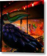 Bird IIzza Word Metal Print