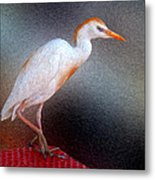 Bird In Faux Oil Metal Print