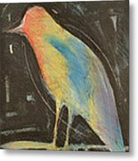 Bird In Gilded Frame Sans Frame Metal Print