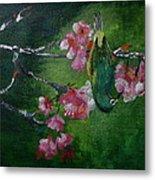 Bird N Blossom.... Metal Print