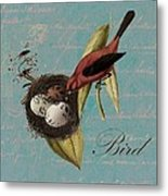 Bird Nest - 02v02t01 Metal Print