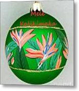 Bird Of Paradise Christmas Bulb Metal Print