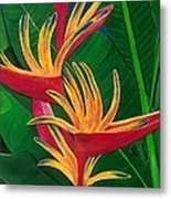 Bird Of Paradise Painting Metal Print