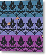 Bird Of Paradise Pattern Metal Print