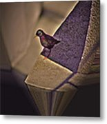 Bird On A Ledge Metal Print