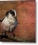 Bird On The Beam Metal Print