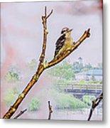 Bird On The Brunch Metal Print
