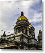 Bird Over St Basil's Cathedral Metal Print