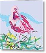 Bird Red Ibis Metal Print