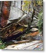 Bird Rock Waterfall Metal Print