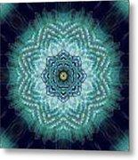 Bird Tail Lotus Mandala Metal Print