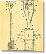 Bird Trap Cat Feeder Patent Art 1979 Metal Print