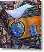 Birdball Metal Print