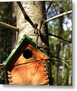 Birdhouse By Line Gagne Metal Print